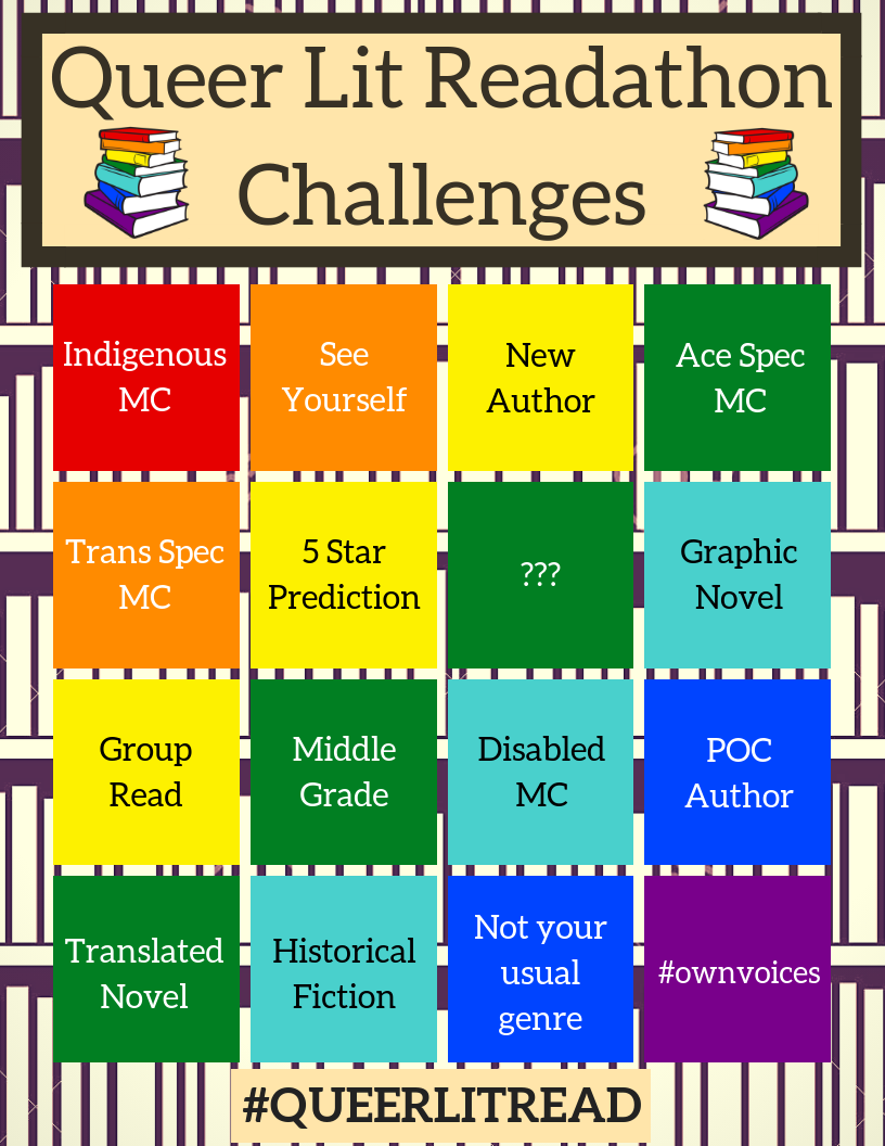 QueerLitRead Challenges Dec 2018