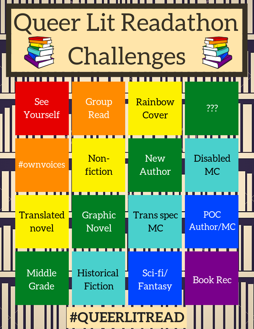 QueerLitRead Challenges June 2019